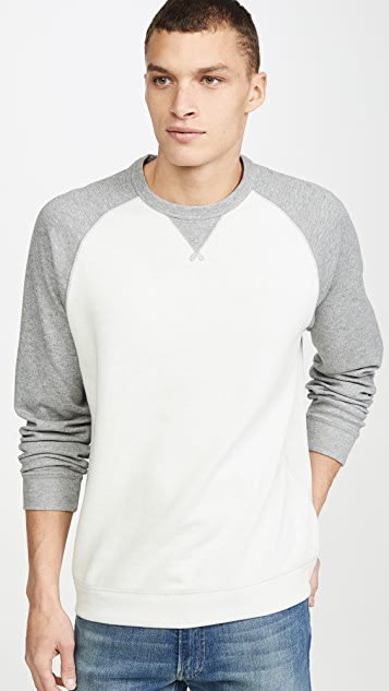 Vince Raglan Long Sleeve Crewneck Sweatshirt