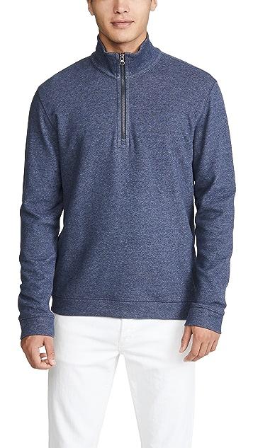 Vince Quarter Zip Long Sleeve Sweatshirt