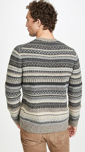 Vince Fairisle Long Sleeve Sweater