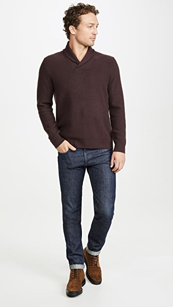 Vince Shawl Long Sleeve Popover Cashmere Sweater