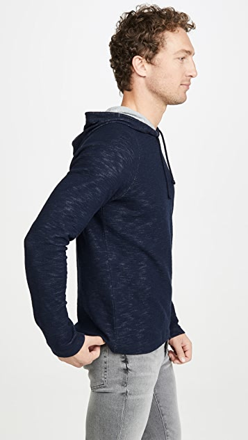 Vince Long Sleeve Double Knit Pullover Hoodie