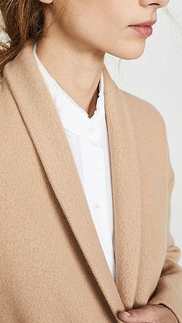 Vince Collarless Long Coat