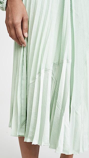 Vince Плиссированная юбка из разных материалов