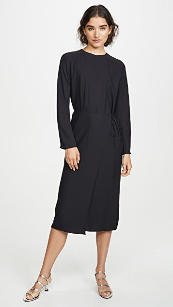 Vince Long Sleeve Button Back Dress