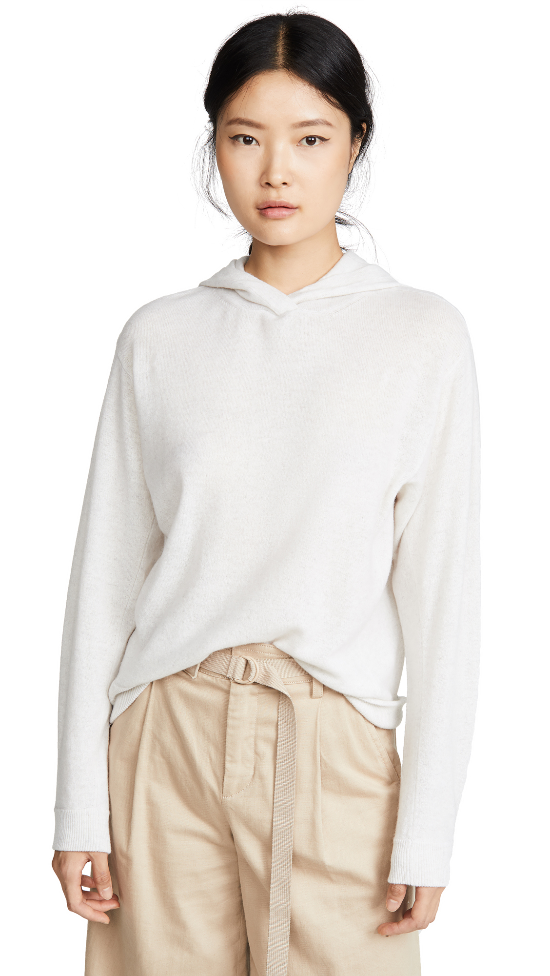 Vince Cashmere Overlap Hoodie