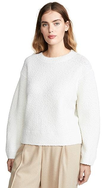 Vince Текстурированный буклированный свитер с округлым вырезом