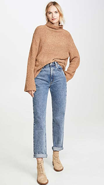Vince Teddy Funnel Neck Sweater