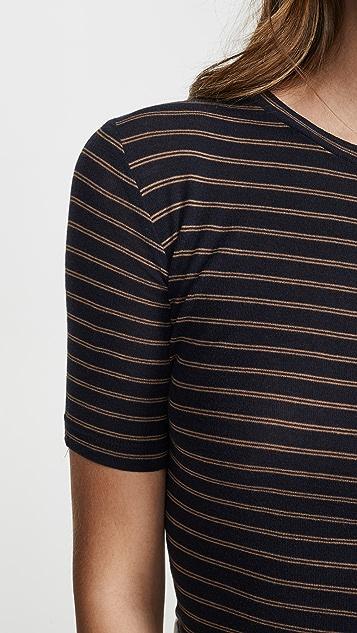 Vince 微型双条纹 T 恤