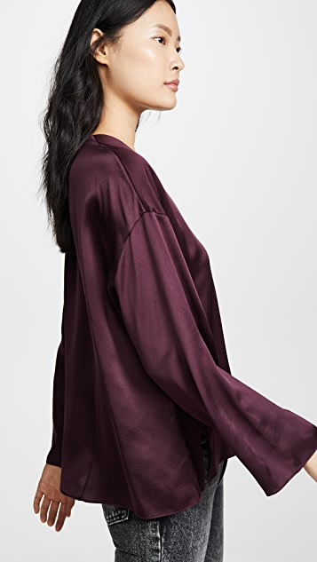 Vince Seamed Front Blouse
