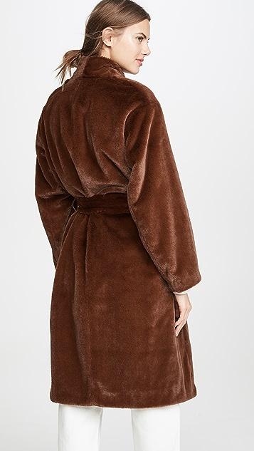 Vince Длинное мягкое пальто