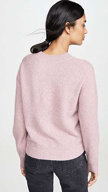 Vince Ворсованный свитер с округлым вырезом
