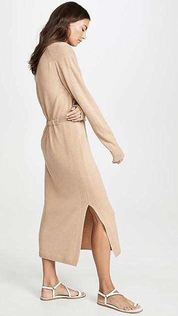 Vince Платье с разрезом и V-образным вырезом