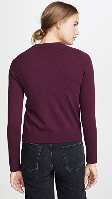 Vince Overlay Cashmere Crew Sweater