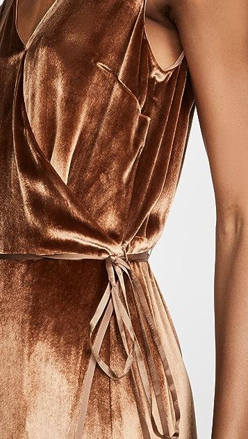 Vince Panne 裹身式连衣裙