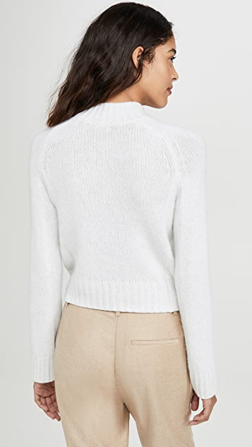 Vince Cashmere Shrunken Mock Neck Sweater