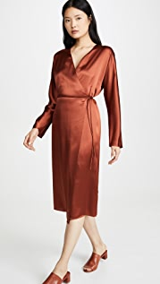 Vince Wrap Tie Dress