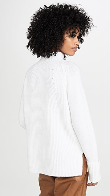 Vince Mix Stitch Funnel Sweater