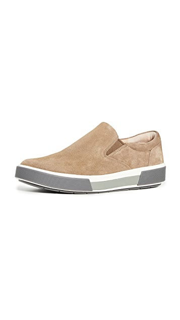 Vince Randell Micro Dot Suede Slip On Sneakers