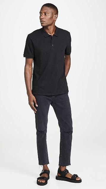Vince Short Sleeve Classic Slub Polo Shirt