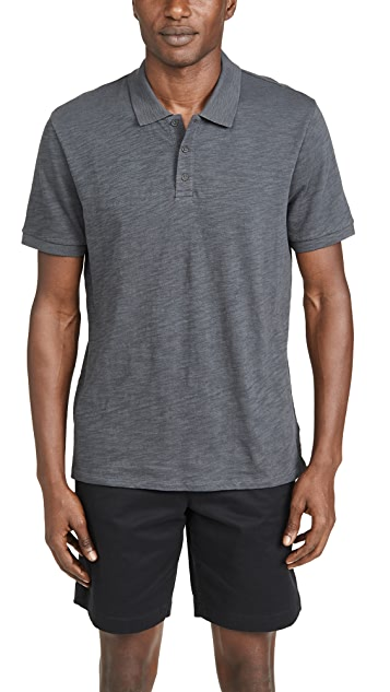 Vince Short Sleeve Classic Slub Polo Shirt