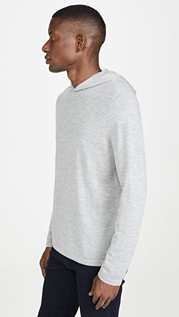 Vince Long Sleeve Pullover Cashmere Hoodie