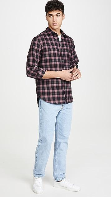 Vince Multi Plaid Long Sleeve Shirt