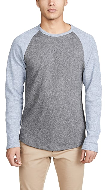 Vince Long Sleeve Raglan Baseball Tee