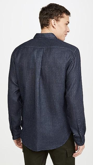 Vince Dobby Double Face Long Sleeve Shirt