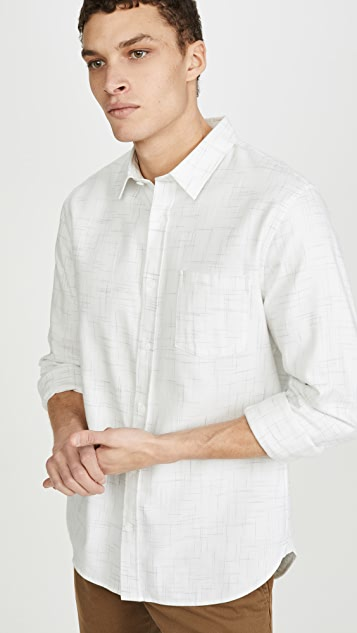 Vince Textured Long Sleeve Shirt
