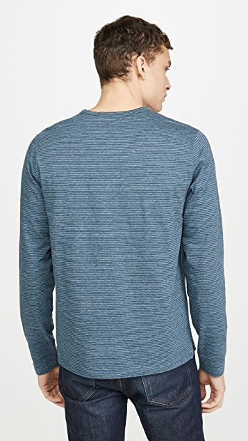 Vince Long Sleeve Stripe Henley