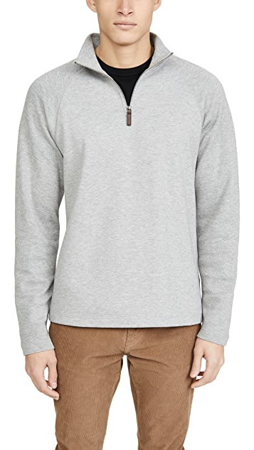Vince Long Sleeve Quarter Zip Raglan Sweatshirt