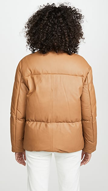 Vince Leather Puffer