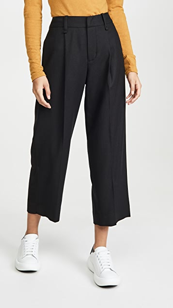 Vince Dress Pleat Front Crop Pants
