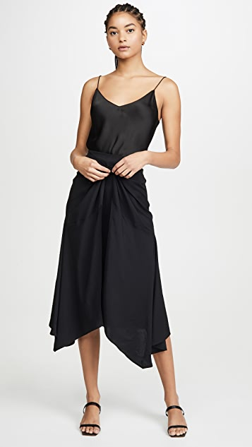 Vince Tie Front Asymmetric Skirt