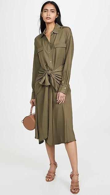 Vince Платье-рубашка с завязкой спереди