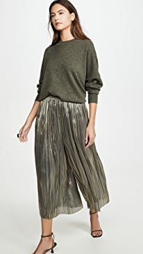 Iridescent Pleated Culottes