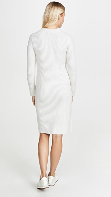 Vince Ribbed Long Sleeve Dress