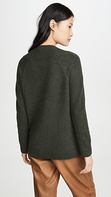 Vince Ribbed Shawl Collar Tunic