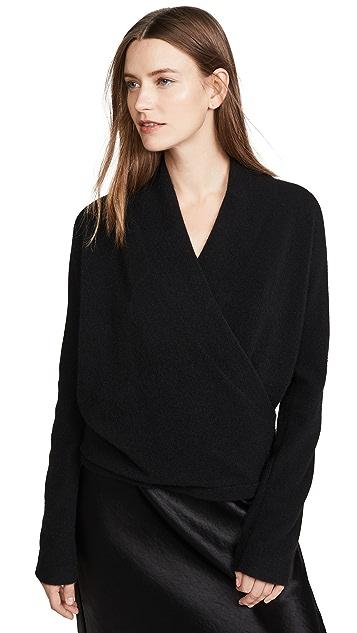 Vince Кашемировый пуловер с запахом спереди