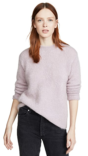 Vince Brushed Mohair Tunic Pullover