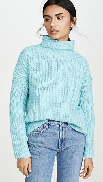 Vince Tops Lofty Rib Turtleneck