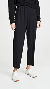 Cropped Tapered Pull On Pants