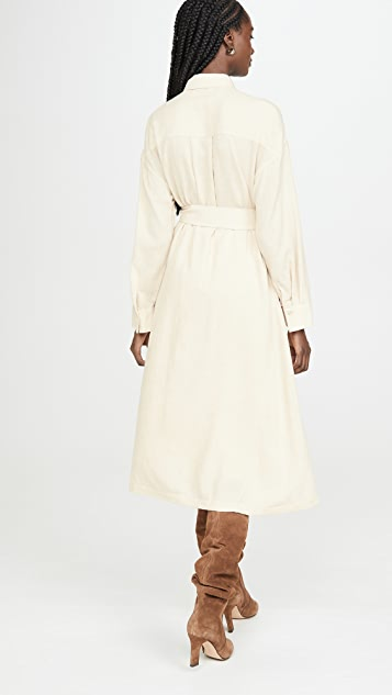 Vince Belted Shirt Dress