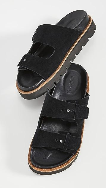 Vince Cypress Suede Slide Sandals