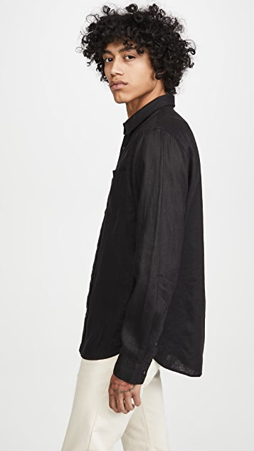 Vince Linen Long Sleeve Shirt