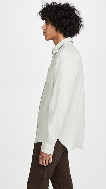 Vince Linen Long Sleeve Shirt