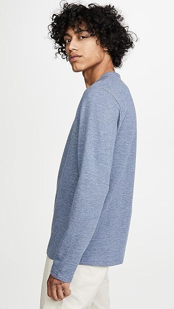 Vince Long Sleeve Stripe Henley Shirt