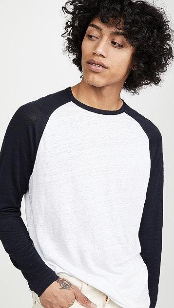 Vince Long Sleeve Baseball T-Shirt