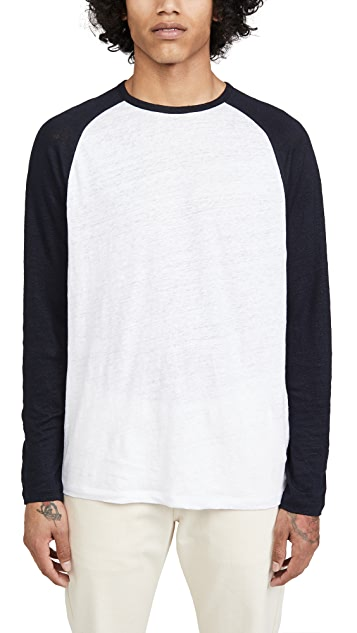 Vince Long Sleeve Baseball T-Shirt