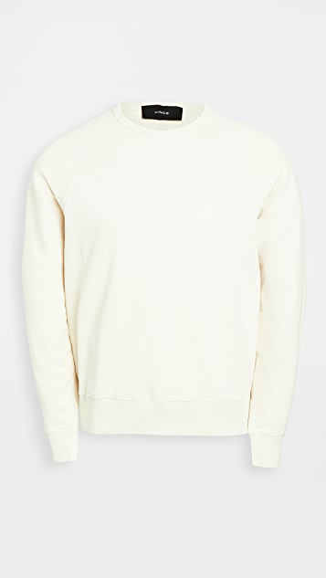 Vince Long Sleeve Garment Dyed Sweatshirt